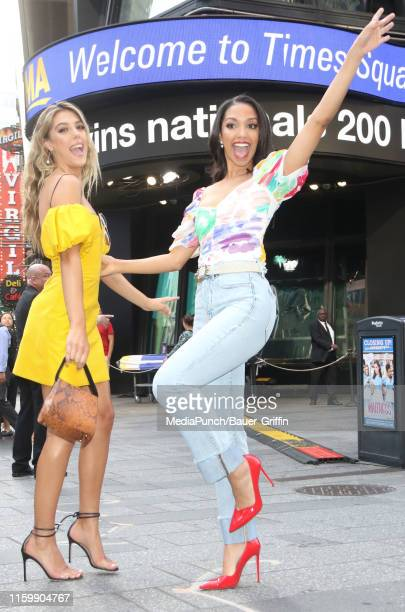 Corinne Foxx and Sistine Stallone are seen on August 05 2019 in New York City