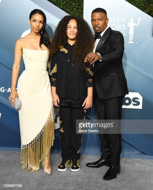 Corinne Foxx Annalise Bishop and Jamie Foxx arrives at the 26th Annual Screen Actors Guild Awards at The Shrine Auditorium on January 19 2020 in Los...