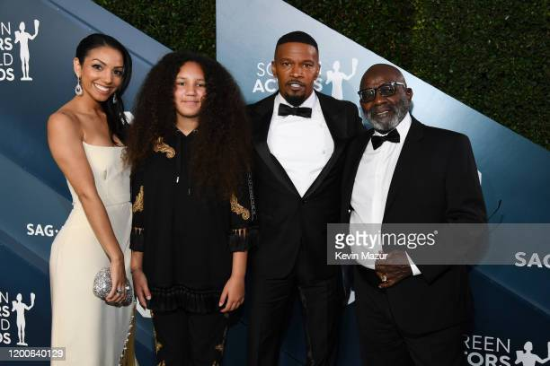 Corinne Foxx Annalise Bishop Jamie Foxx and Darrell Bishop attend the 26th Annual Screen Actors Guild Awards at The Shrine Auditorium on January 19...