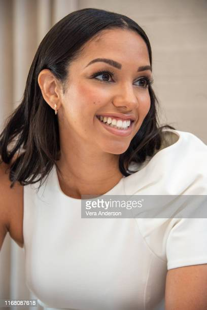Corinne Foxx at the 47 Meters Down Uncaged Press Conference on August 13 2019 in West Hollywood California