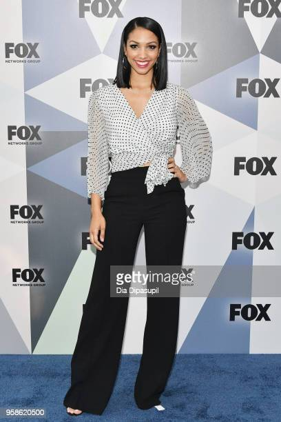 Corinne Foxx attends the 2018 Fox Network Upfront at Wollman Rink Central Park on May 14 2018 in New York City