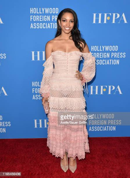 Corinne Foxx attends the Hollywood Foreign Press Association's Annual Grants Banquet at Regent Beverly Wilshire Hotel on July 31 2019 in Beverly...