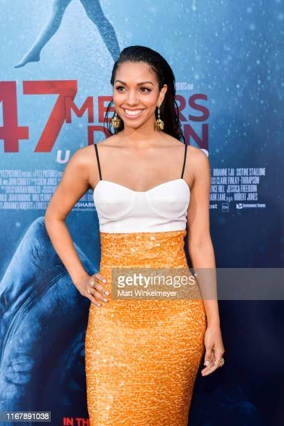 Corinne Foxx attends the LA Premiere of Entertainment Studios' 47 Meters Down Uncaged at Regency Village Theatre on August 13 2019 in Westwood...