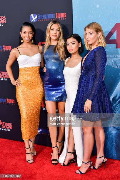 Corinne Foxx Sistine Rose Stallone Brianne Tju and Sophie Nelisse attends the LA Premiere of Entertainment Studios' 47 Meters Down Uncaged at Regency...