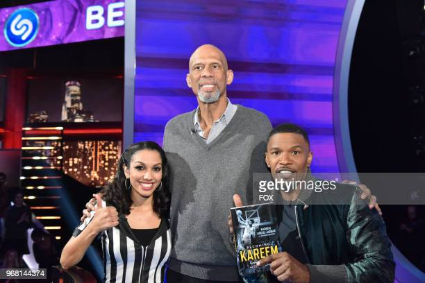 Corinne Foxx Special guest Kareem AbdulJabbar and host Jamie Foxx in the Episode Two episode of BEAT SHAZAM airing Tuesday June 5 on FOX
