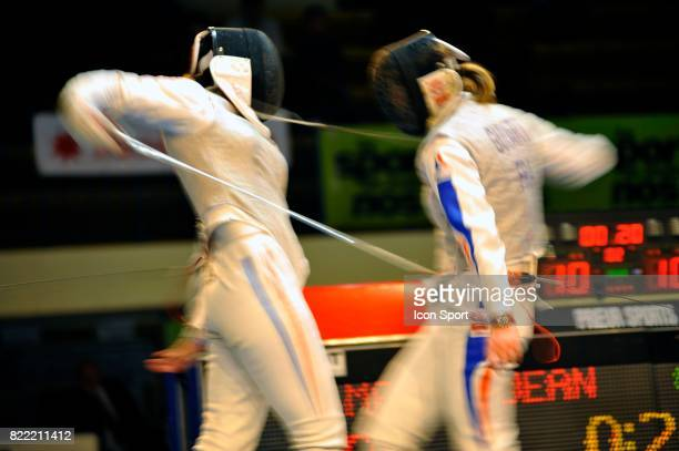 Corinne MAITREJEAN / Astrid GUYART Championnats de France Escrime Livry Gargan