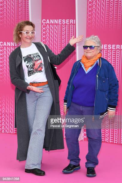Corinne Masiero and Josee Dayan from the serie Capitaine Marleau attend Aqui En La Tierra and Il Cacciatore screening during the 1st Cannes...