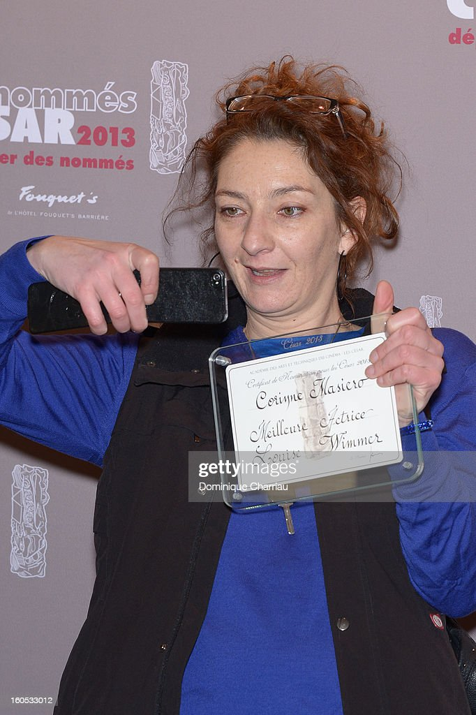 Corinne Masiero attends the Cesar 2013 Nominee Lunch at Le Fouquet's on February 2, 2013 in Paris, France.