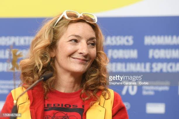 Corinne Masiero attends the Delete History press conference during the 70th Berlinale International Film Festival Berlin at Grand Hyatt Hotel on...