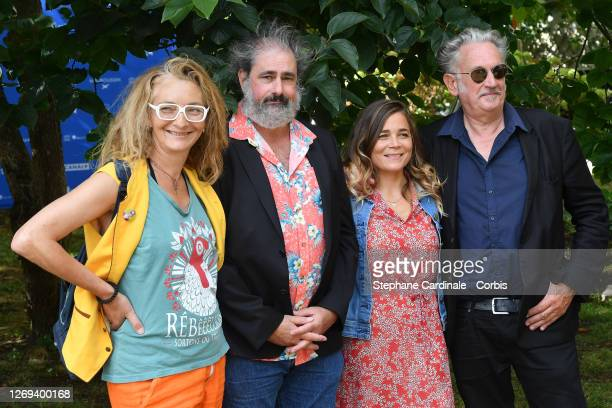 """Corinne Masiero, Gustave Kervern, Blanche Gardin and Benoît Delepine attend the """"Effacer L'Historique"""" Photocall at 13th Angouleme French-Speaking..."""