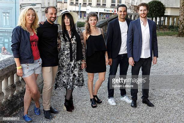 Corinne Masiero LouisJulien Petit Isabelle Adjani Sarah Suco guest and Pablo Pauly attends 9th Angouleme FrenchSpeaking Film Festival on August 25...