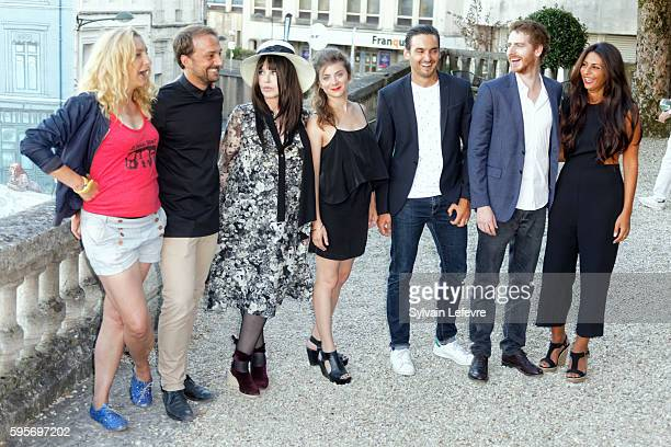 Corinne Masiero LouisJulien Petit Isabelle Adjani Sarah Suco guest Pablo Pauly and guest attend 9th Angouleme FrenchSpeaking Film Festival on August...