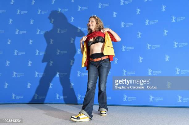 Corinne Masiero poses at the Delete History photo call during the 70th Berlinale International Film Festival Berlin at Grand Hyatt Hotel on February...