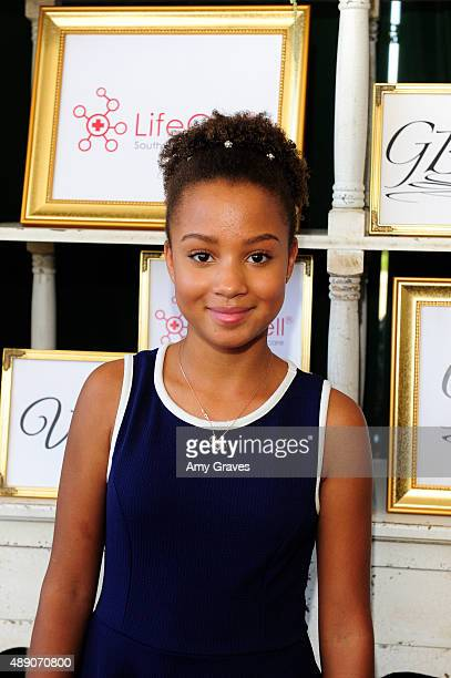 Corinne Massiah attends the GBK PreEMMYS Gift Lounge on September 18 2015 in Los Angeles California