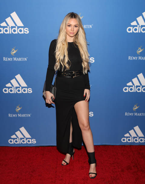 975309a2645 Corinne Olympios attends the Adidas Basketball Black Tie Party Presented by  Remy Martin at Delilah on