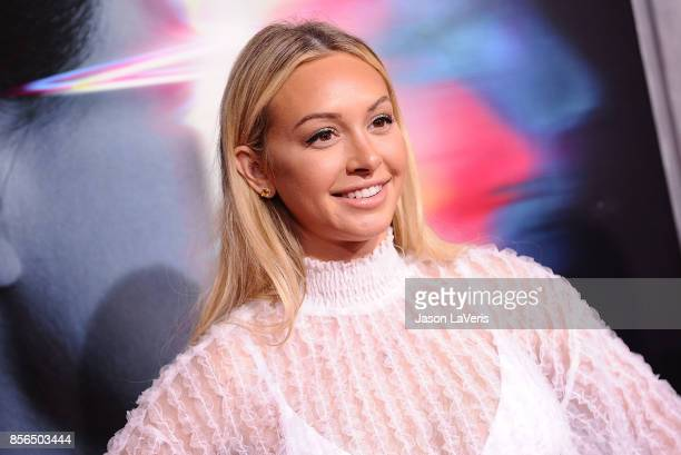 Corinne Olympios attends the premiere of 'Flatliners' at The Theatre at Ace Hotel on September 27 2017 in Los Angeles California