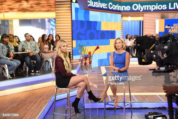 AMERICA Corinne Olympios of 'Bachelor in Paradise' is a guest on 'Good Morning America' Tuesday August 29 2017 airing on the ABC Television Network...