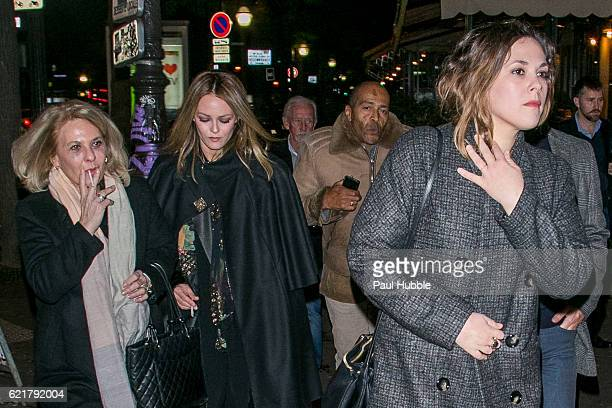 Corinne Paradis actress and singer Vanessa Paradis Andre Paradis music composer Serge Ubrette and actress Alysson Paradis arrive to attend the...