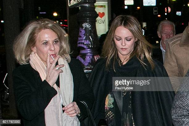 Corinne Paradis and actress/singer Vanessa Paradis arrive to attend the 'Planetarium' Premiere at 'Le Grand Rex' on November 8 2016 in Paris France