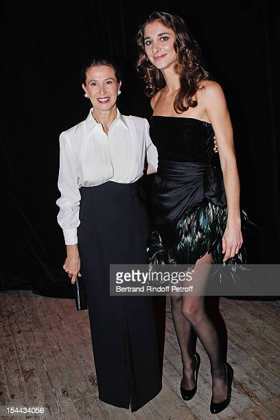 Corinne Ricard and her daughter Lorraine wearing a Givenchy vintage dress attend 'Bal Jaune 2012' organized by the Ricard Corporate Foundation for...
