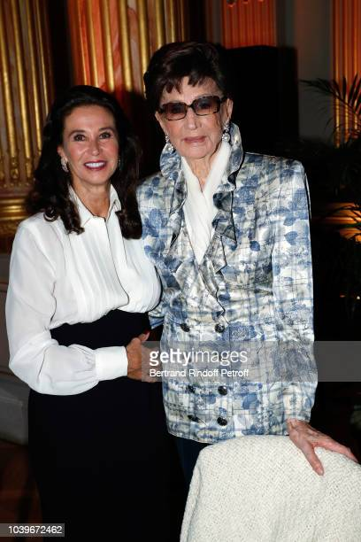 Corinne Ricard and Jacqueline de Ribes attend Societe des Amis du Musee D'Orsay Dinner at Musee d'Orsay on September 24 2018 in Paris France