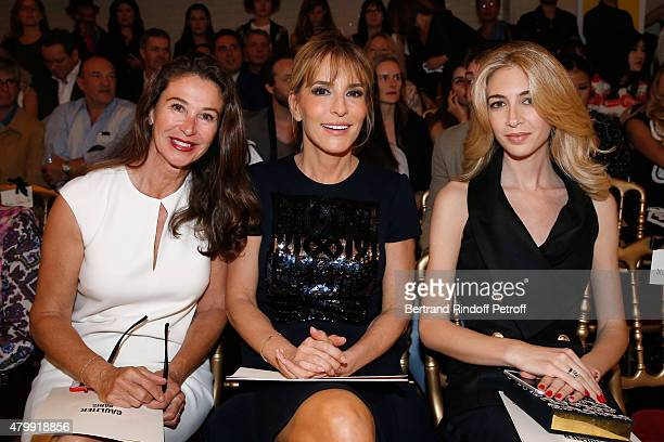 Corinne Ricard Patricia d'Arenberg and Sabine Getty attend the Jean Paul Gaultier show as part of Paris Fashion Week HauteCouture Fall/Winter...