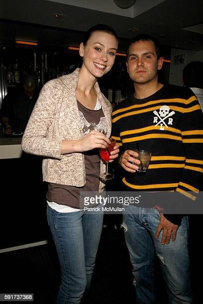 Corinne Russell and Jason Horvarth attend Outspiration the Party hosted by Polartec at QT Hotel on November 16 2005 in New York City