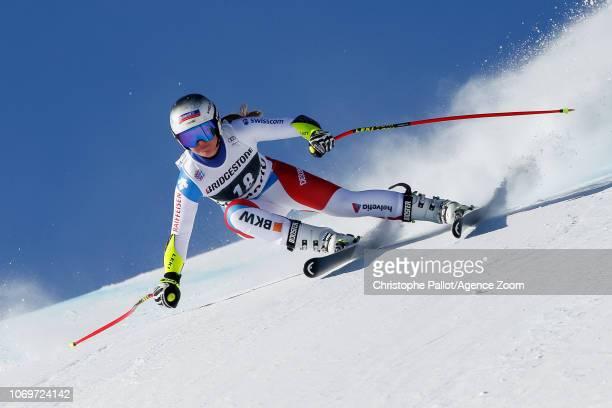 Corinne Suter of Switzerland competes during the Audi FIS Alpine Ski World Cup Women's Super G on December 8 2018 in St Moritz Switzerland