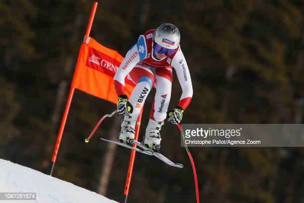 Corinne Suter of Switzerland in action during the Audi FIS Alpine Ski World Cup Women's Downhill on December 1 2018 in Lake Louise Canada