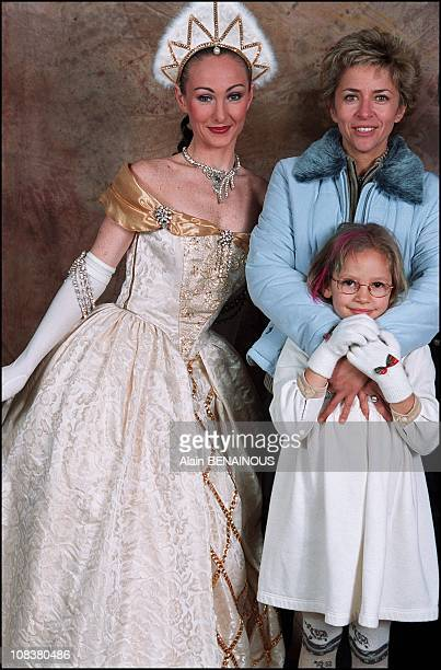 Corinne Touzet and her daughter Jeanne in France on November 10 2001