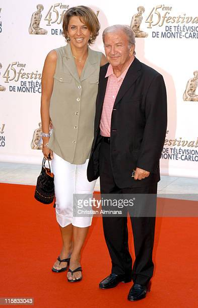 Corinne Touzet and Pierre Mondy during 45th Monte Carlo Television Festival - TF1 Cocktail - Arrivals at Grimaldi Forum in Monte Carlo, Monaco.