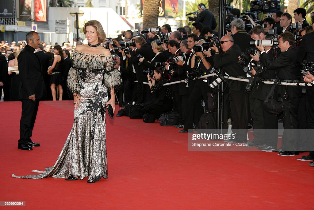 Corinne Touzet at the premiere of 'Quand j'étais chanteur' during the 59th Cannes Film Festival.