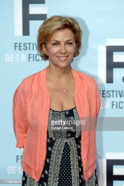 Corinne Touzet attends the photocall of opening ceremony of the 21th Festival of TV Fiction At La Rochelle : Day One on September 11, 2019 in La...