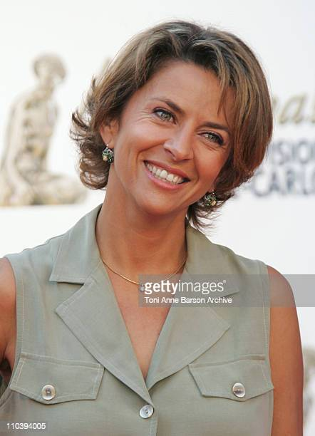 Corinne Touzet during 45th Monte Carlo Television Festival - TF1 Cocktail Arrivals at Grimaldi Forum in Monte Carlo, Monaco.