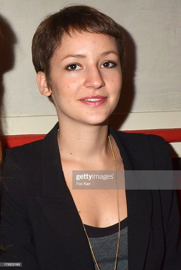 Corinne Touzet's daughter Jeanne Touzet Sieja attends the 'Florides' : Margot Abascal's Short Movie Screening Cocktail at the SACD on July 11, 2013 in Paris, France.