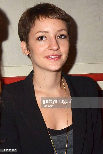 Corinne Touzet's daughter Jeanne Touzet Sieja attends the 'Florides' Margot Abascal's Short Movie Screening Cocktail at the SACD on July 11 2013 in...