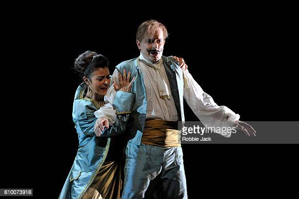 Corinne Winters as Fiordiligi and Daniel Behle as Ferrando in the Royal Opera's production of Wolfgang Amadeus Mozart's Cosi Fan Tutte directed by...