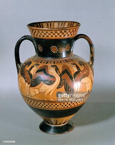 Corinthian amphora pottery from Caere now Cerveteri Italy Greek Civilization 7th5th Century BC Paris Musée Du Louvre