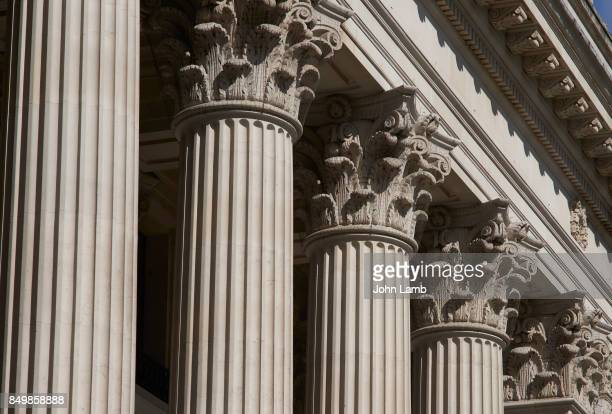 corinthian capitals on classical columns. - london court stock pictures, royalty-free photos & images