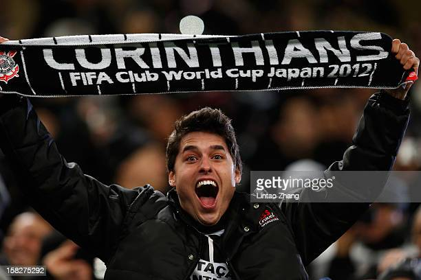 Corinthian fans during the FIFA Club World Cup Semi Final match between AlAhly SC and Corinthians at Toyota Stadium on December 12 2012 in Toyota...