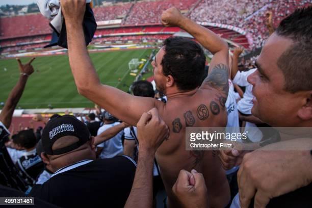 Corinthians FC fans celebrate win vs Sao Paulo FC