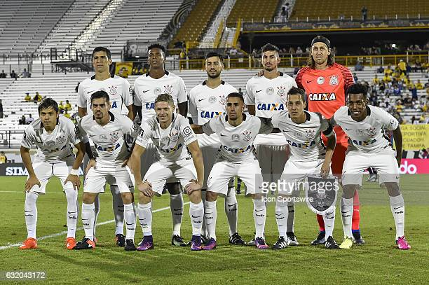 Corinthians starting XI during the first half of the Florida Cup Semifinal match between Vasco da Gama and Corinthians on January 18 at Bright House...