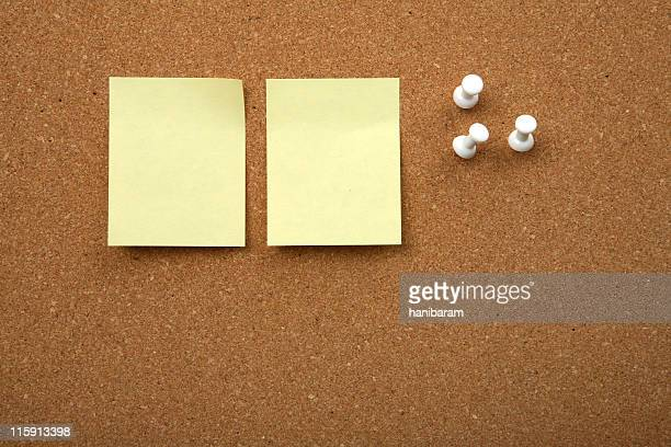 cork board with yellow sticky note - mail stock pictures, royalty-free photos & images