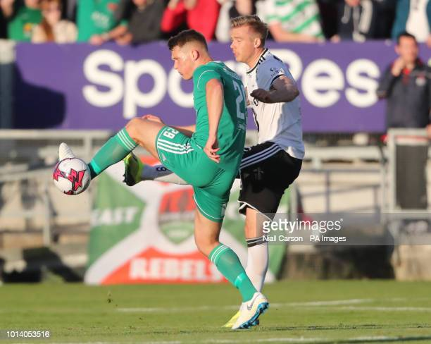 Cork City's Alec Byrne and Rosenborg's Alexander Soderlund during the UEFA Europa League third qualifying round first leg match at Turners Cross Cork