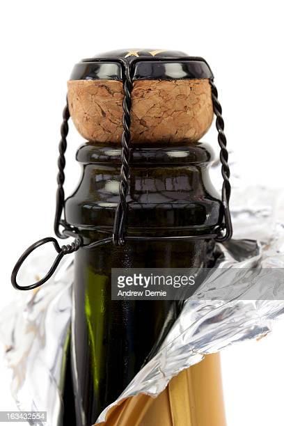 cork in bottle of champagne - andrew dernie foto e immagini stock