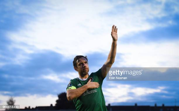 Cork Ireland 1 June 2018 Alan Bennett of Cork City acknowledges supporters following the SSE Airtricity League Premier Division match between Cork...