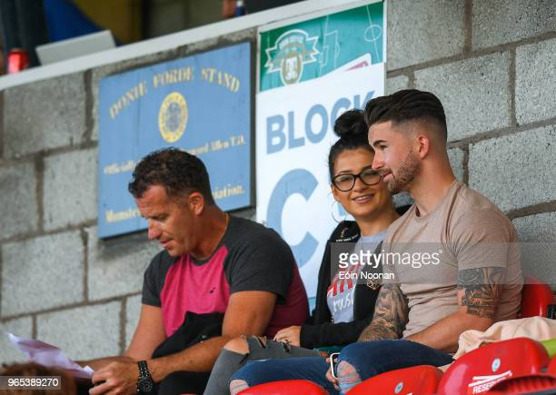 Cork Ireland 1 June 2018 Republic of Ireland and Preston North End striker Sean Maguire with his girlfriend Claudia Rose Long prior to the SSE...