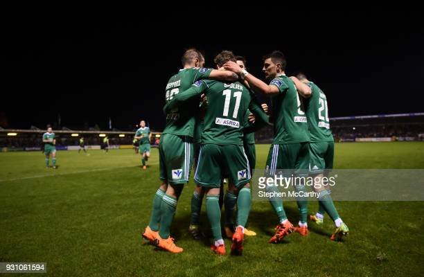 Cork Ireland 12 March 2018 Cork City players celebrate after Kieran Sadlier scored their first goal during the SSE Airtricity League Premier Division...