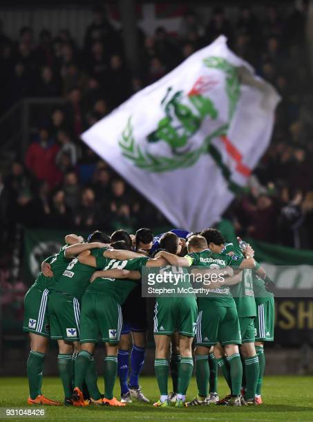 Cork Ireland 12 March 2018 Cork City players prior to the SSE Airtricity League Premier Division match between Cork City and Shamrock Rovers at...