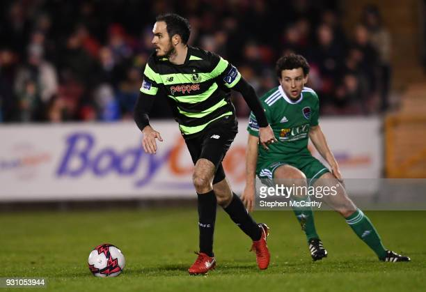 Cork Ireland 12 March 2018 Joey O'Brien of Shamrock Rovers in action against Barry McNamee of Cork City during the SSE Airtricity League Premier...